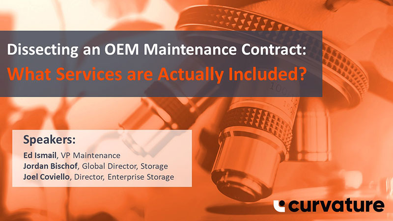 Dissecting an OEM Maintenance Contract: What Services are Actually Included?